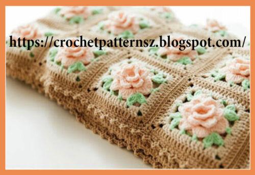 Crochet Pattern// PDF Download English Pattern for Crochet Baby Blanket 575
