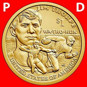 BU 2016 Native American Sacagawea Sequoyah Cherokee P/&D Dollars Uncirculated