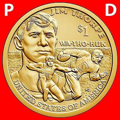 2017 P /& D Native American Dollar Coin Mint Rolls Uncirculated