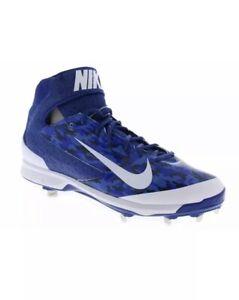 Nike-Men-039-s-Size-13-Air-Huarache-Pro-Mid-MTL-Blue-Camo-Baseball-Cleats-599235-499