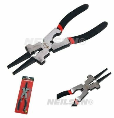 Spring Loaded /& Comfort Grip Tool CT4571 200mm Hammer Head Jaw Welding Pliers