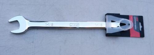 NEW Chrome Vanadium Combination Ring /& Open End Spanner A//F 1 1//8 JBS 0734-5205