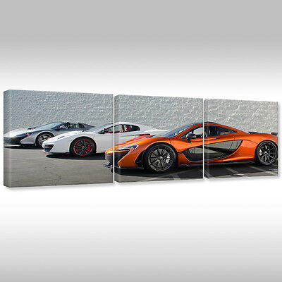 LEINWANDBILD CANVAS WANDBILDER KUNSTDRUCK Auto Sportwagen McLaren XXL-225x160cm