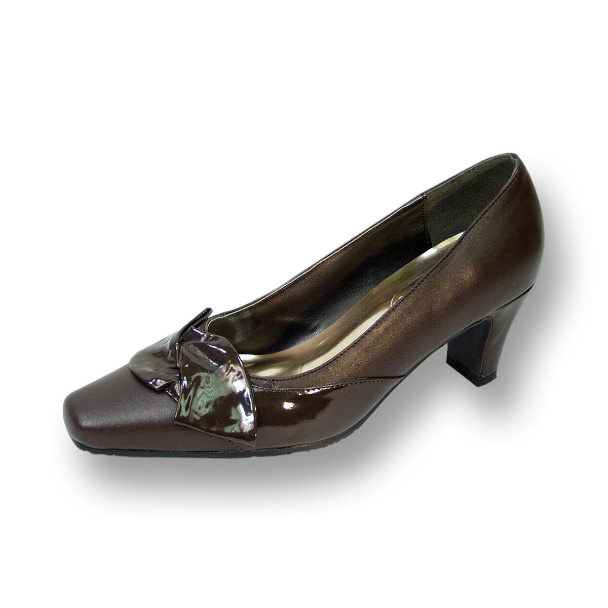 PEERAGE Lori damen Wide Width Width Wide Leather Dress Pump for Professionals 4b0e2a