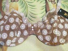 Wacoal,WE104002,Petite Fleur Balconette,Mocha,36D, Underwire,European Coll.