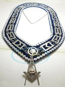 Details about MASONIC BLUE LODGE OFFICER CHAIN COLLAR WITH SENIOR DEACON  OFFICER JEWEL
