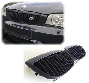 CALANDRE-BMW-SERIE-1-E87-5-PORTES-2004-2011-PACK-M-TECHNIC-NOIRE-HARICOT-GRILLES