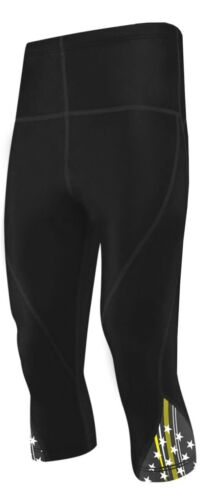 Compression Shorts 3//4 Pants Tight Base Layer Skin Fit Gym Sport Leggings Unisex