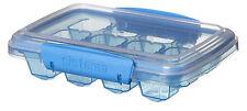 Sistema Blue Klip It Ice Tray Maker  Medium 12 Cubes Clip Lid Plastic Mould Bar