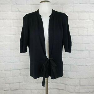 Elie-Tahari-Women-039-s-Medium-Cardigan-Sweater-Black