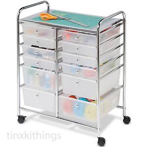 Image is loading Rolling-Mobile-Cart-Drawer-Organizer-Storage-Art-Craft-  sc 1 st  eBay & Rolling Mobile Cart Drawer Organizer Storage Art Craft Office School ...