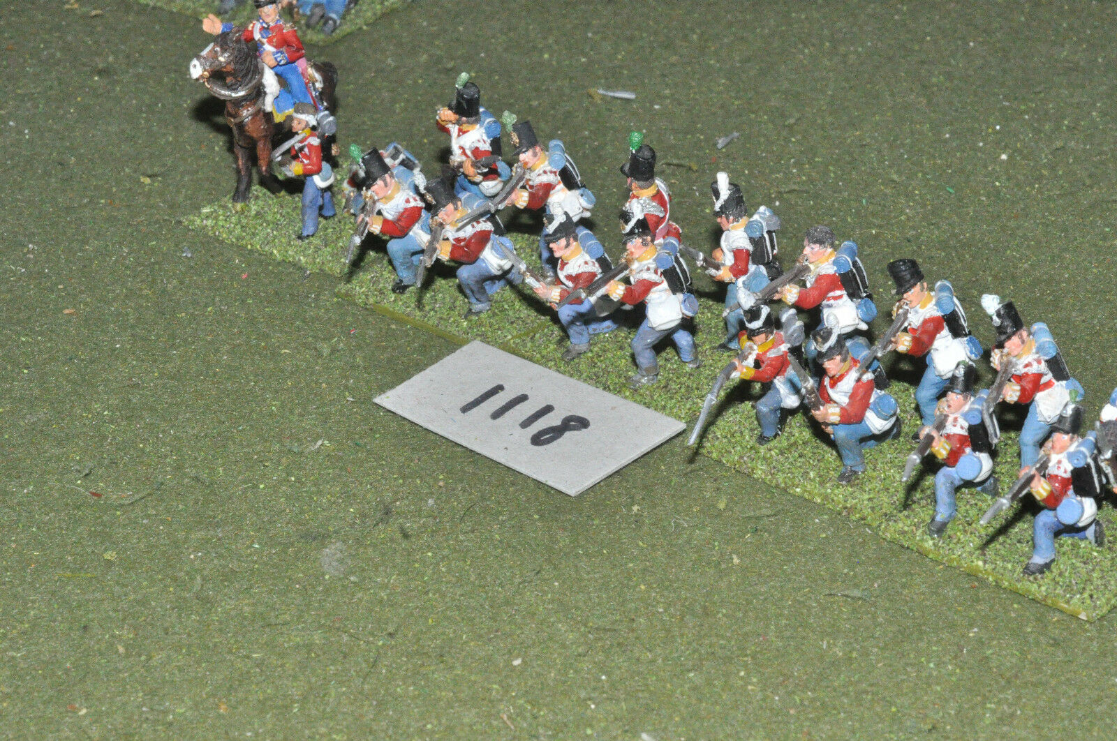 25mm napoleonic   british - infantry 19 figs metal painted - inf (1118)