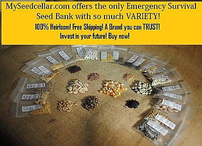 Survival Seed Bank-8,500 Seeds-100/% Heirloom-Open Pollinated-Survival Seed Bank