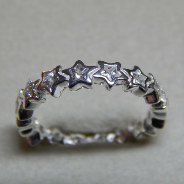 7e0481fcb ... New Authentic Pandora Ring Starshine Clear CZ Size 56 190974CZ Box  Include ...