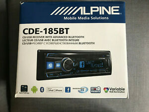 Alpine CDE-185 BT,1-DIN Autoradio, CD, MP3, Bluetooth, USB, wie neu