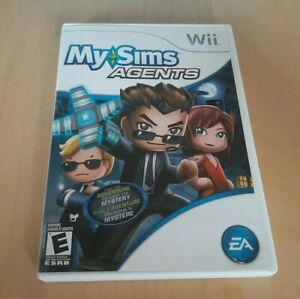 NINTENDO-WII-MY-SIMS-AGENTS-USED-COMPLETE-GAME-2009