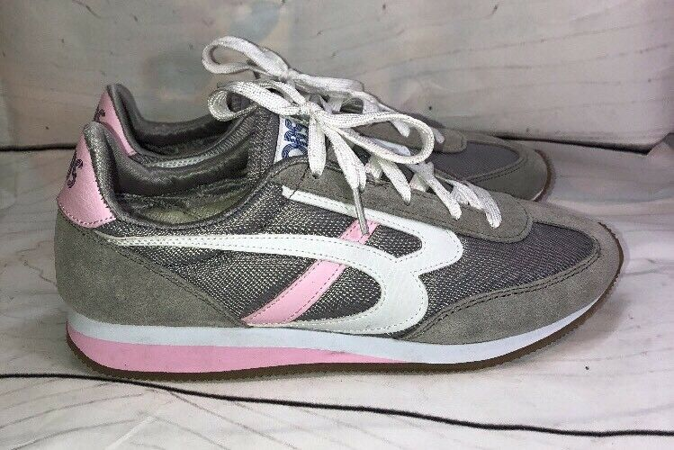 BOBS from Skechers Women's Sunset Retro  Sneaker Shoes Gray Pink 8 The most popular shoes for men and women