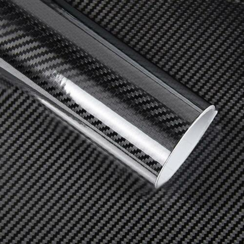 Glossy Black 5D Carbon Fiber Vinyl Film Bubble Free Car DIY Sticker Decal Wrap