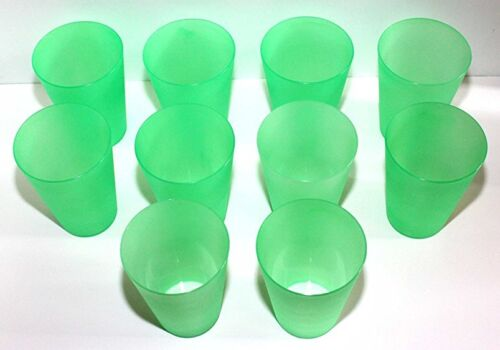 35 grüne Plastik Trinkbecher Partybecher Spülmaschinenfest max 0,4 l