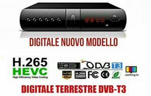 DECODER RICEVITORE DIGITALE TERRESTRE DVB-T3 TV SCART HDMI 1080P H.265 HD-999A