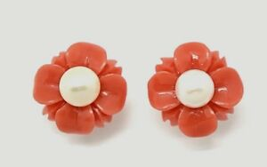 Pearl-Studs-Bloom-Coral-Colours-amp-Pearl-925er-Silver