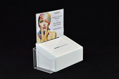 Pds9474 Whitelh A5l To Ensure A Like-New Appearance Indefinably Leaflet Holder Tireless Comment Suggestion Box With Poster Holder