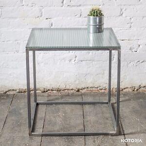couchtisch asper wohnzimmertisch beistelltisch industrial metall glas modern ebay. Black Bedroom Furniture Sets. Home Design Ideas