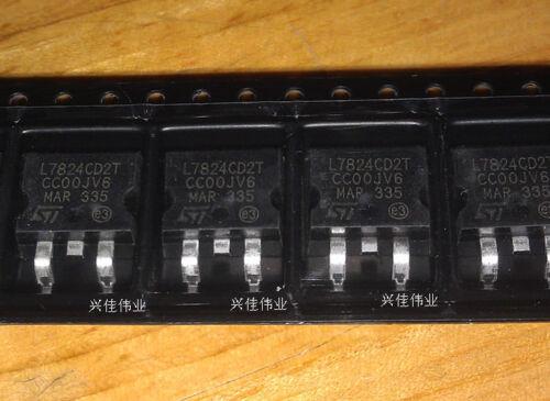 Nuevo 10PCS L7824CD2T L7824CV TO263 paquete SMD Regulador de transistor 1.5 A 24 V