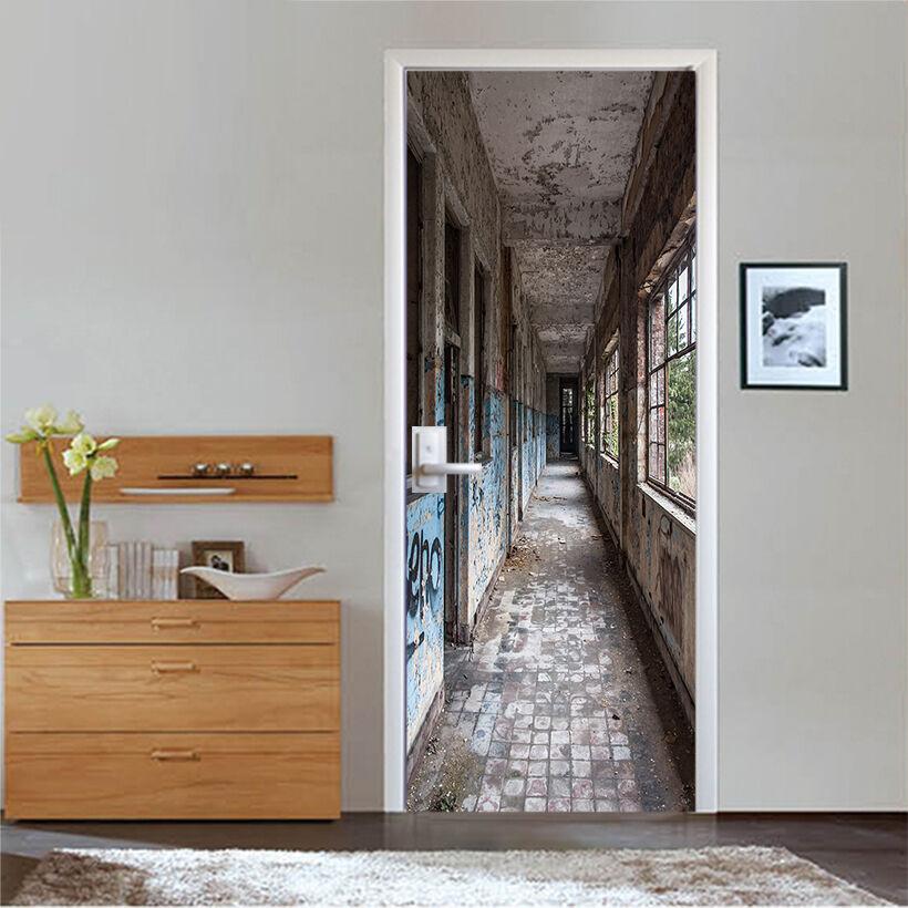 3D Korridor 722 Tür Wandmalerei Wandaufkleber Aufkleber AJ WALLPAPER DE Kyra