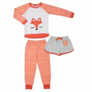 7eaabad60 St. Eve Girls Cute   Cozy Fox Face 3-Piece Sleepwear Pajama Set L 14 ...