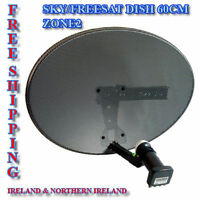 SKY / Freesat Satellite Dish - Zone 2 Quad LNB (MK4) HD - Sky, Astra, Hotbird