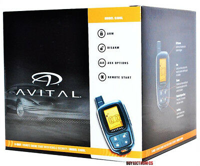 Avital 5305L 2-Way Car Security Alarm RemoteStart System Replace Avital 5303