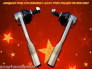 2 American Star Polaris Chromoly Tie Rod Ends Ranger RZR XP 800 2012