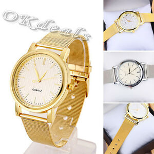 2015 Classic Womens Fashion Watch Stainless Steel Band Quartz Wrist Watches