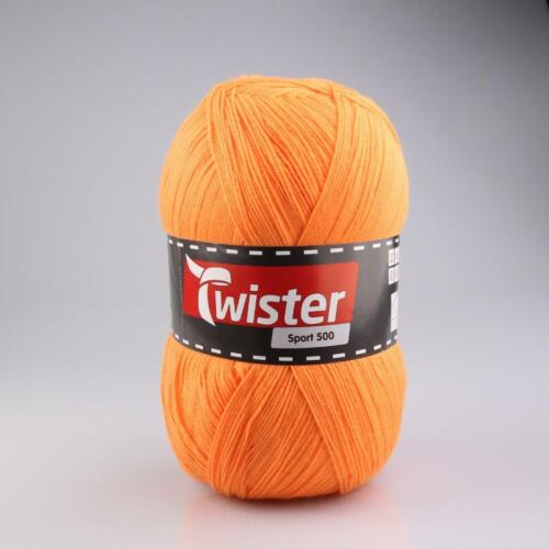 500g Knäuel Twister Sport 500 uni  Riesenknäuel stricken häkeln Handarbeit Farba