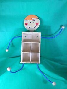 Details Zu Anziehwichtel Kinder Garderobe Jako O Regal Massivholz Ablage Kinderzimmer Mobel