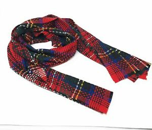 100-Cashmere-natte-a-explose-Tartan-a-Royal-Stewart-made-in-Scotland