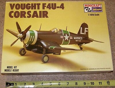 VINTAGE MIB HASEGAWA 1/48 VOUGHT F4U-4 CORSAIR US NAVY CARRIER FIGHTER