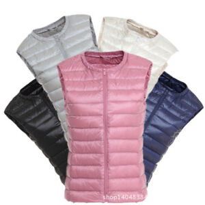 Women-039-s-Packable-Light-Weight-Down-Puffer-Sleeveless-Jacket-Vest-Waist-coat
