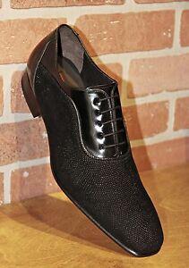 2a540c3224 Mezlan Men s Oxford Black Glass Suede Handmade in Spain Dress Shoes ...