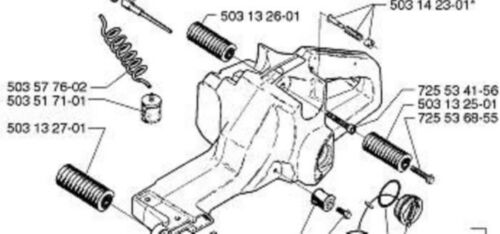 Husqvarna Antivibe Element Set of 3  3120 3120K 3120XP saw chainsaw