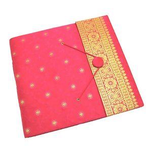 Fair Trade Handmade Large Sari Photo Album Cerise