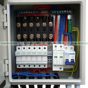 6 string pv combiner joint box 10a circuit breakers for solar rh ebay com PV Combiner Box 6 String AC Combiner Box