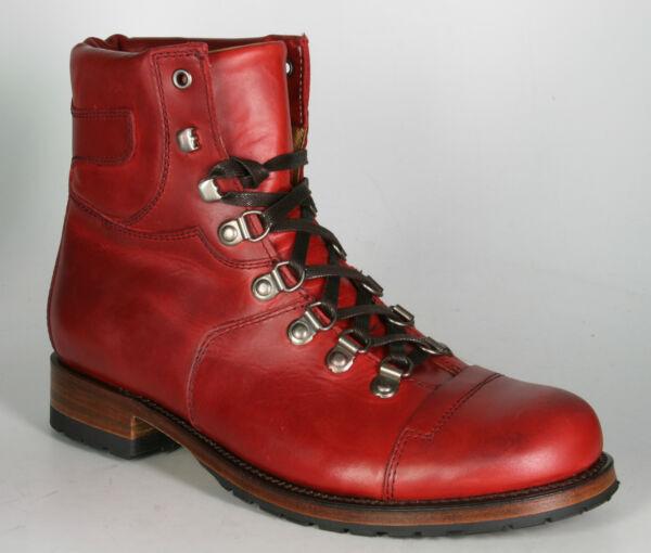 9017 Sendra Stivaletto Stringato Alpinisti Rojo Rosso Eccellente (In) Qualità
