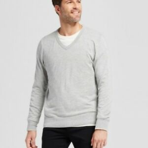 e18711bf73 Goodfellow & Co. New Men's V-Neck Pullover Sweater Light Heather ...