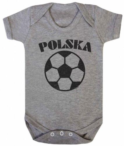 POLSKA POLAND Boys Girls football Unisexe BABYGROW VEST World Cup 2018 Basic Retr