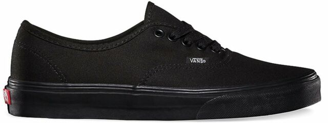 Vans Unisex Authentic Shoes Canvas Black/Black Core Classic Sneakers VN000EE3BKA