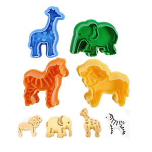 Icing-Cookie-Baking-Mold-Sugarcraft-Plunger-Cutter-Cute-Animal-Zoo-Lion-Elephant