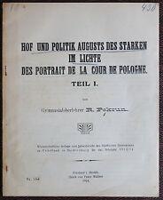Pekrum -Hof und Politik August des Starken 1914 - Geschichte Sachsen, Polen - xz