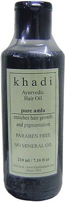 KHADI - Ayurvedic Hair Oil Pure Amla - 210ml - No Mineral Oil - No Parabens